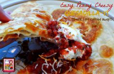 Kandy's Kitchen Kreations: Easy Peasy Cheesy Quesadilla-Y! (Sorry I got carri...