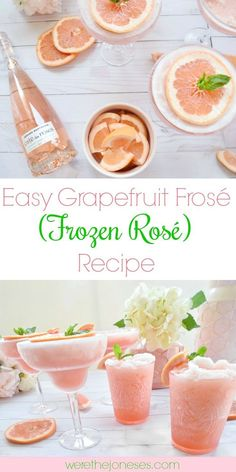 Easy Grapefruit Fros� (Frozen Ros�) Recipe | Simple and quick frose recipe frozen rose #froserecipe #cocktailrecipes #cocktails