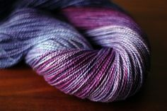 Merino-silk blend. This colorway is so so so pretty.