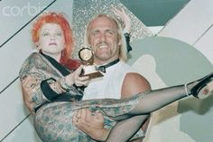 Cyndi and Hulk Hogan