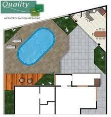 Resultado de imagem para planta baixa de piscina