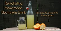 Not feeling well? Don't reach for a sports drink or bottle of electrolytes from the store. Make your own with this simple, homemade recipe featuring ingredients you already have in your kitchen. It tastes great and kids love it.