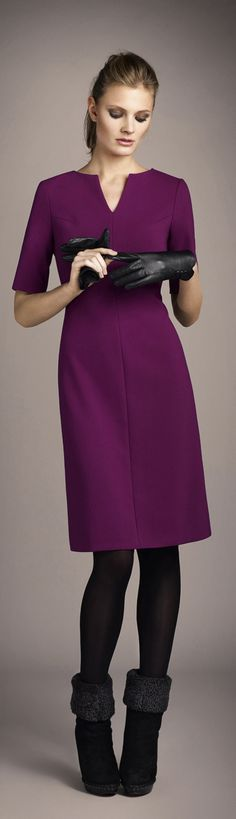Jewel tone solid elegant dress