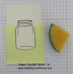 "REVERSE MASKING TECHNIQUE ... how ""water"" stays in a stamped image of a jar…"