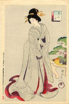 Toyohara Chikanobu: Bride in the marriage costume