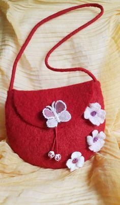 Felted Wool, Wool Felt, Childrens Purses, Bags, Fashion, Handbags, Moda, Wool Felting, Fashion Styles