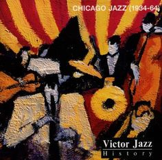 1997 Victor Jazz History Vol.18: Chicago Jazz (1934-64) [RCA 74321357372] cover painting by Alice Choné #albumcover