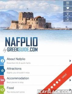NAFPLIO By GREEKGUIDE.COM  Android App - playslack.com , Discover one of the most picturesque and historical cities of Greece with the travel guide that adapts to your type of holiday. NAFPLIO by GREEKGUIDE.COM gives you a wealth of insider information at your fingertips and helps you plan your stay from start to finish and craft your own unique experience. Find maps, travel info and tips that will make your trip memorable.* About Nafplio * Attractions* Accommodation * Food* Nightlife…