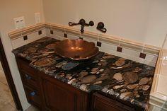 black+granite+countertops+backsplash+ideas | Black Mosaic Granite Countertops (3896), Black Mosaic, Ventura ...