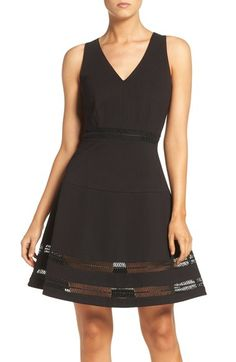 Adelyn Rae Ponte Fit & Flare Dress available at #Nordstrom