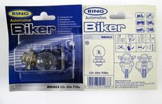 12v 20w P26s Motorbike Headlight Bulb - Ring RMU613 *Pack of 2