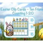 FREE! Clip cards are great for independent practice.  Children will count the Easter eggs, determine the answer, attach a clothespin or clip to the numer...