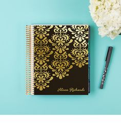 WANT THIS! fleur feliz - METALLIC GOLD - LifePlanner™