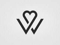 Creative Logo, Wedding, Logos, Geometry, and Monogram image ideas & inspiration on Designspiration Typography Images, Typography Inspiration, Typography Logo, Logo Design Inspiration, Logo Branding, Wedding Logo Design, Wedding Logos, Wedding Typography, 2 Logo