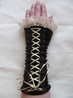 Tribal steampunk gloves