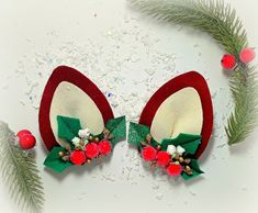 Finding Card Making Supplies For Your Craft Class Christmas Gifts, Christmas Hair Bows, Christmas Deer, Felt Christmas, Christmas Crafts, Etsy Christmas, Christmas Accessories, Diy Hair Accessories, Barrette