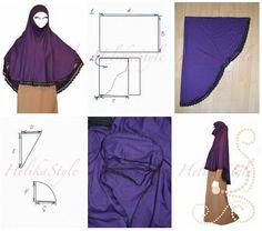 Как сшить аль-Амира хиджаб иранского стиля. Хиджаб с подбородком. :: Sewing classes and tutorials - HelikaStyle