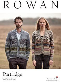 Ravelry: Partridge Cardigan pattern by Martin Storey Christmas Knitting Patterns, Sweater Knitting Patterns, Cardigan Pattern, Knit Patterns, Fair Isle Knitting, Knitting Yarn, Crochet Yarn, Free Knitting, Knitting Sweaters