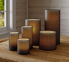 Moroccan Candle Sleeve #potterybarn