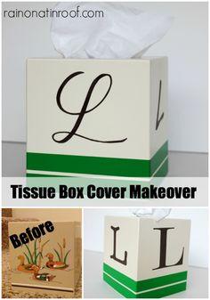 Monogrammed Tissue Box Cover