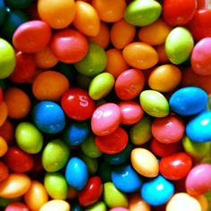 Skittles... If I am eating skittles it has been a tough day at work!