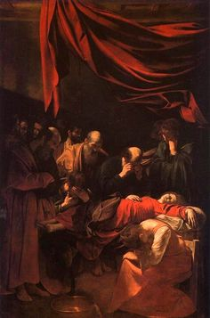 Death of the Virgin - Commissioned in 1601 for the church of Santa Maria della Scala in Rome, this painting could not have been finished before 1605-1606. After being refused by the monks, who found it unworthy of the church, it was replaced by a work on the same subject painted by Carlo Saraceni.