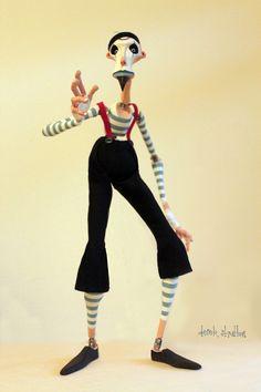 Derek Stratton - mime puppet