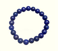 Meditation Bracelet - Blue Lapis Lazuli 8mm Round, Stretch Men Bracelet- Third Eye Chakra- Handmade - Natural Stones - Jewellery de ArtGemStones en Etsy