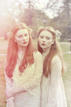 Lesbian twins redhead