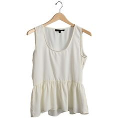 Ivory Party Time Sleeveless Peplum Top | $10.50 | Cheap Trendy Blouses Chic Discount Fashion for Wom