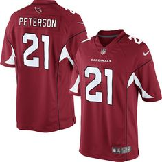 Limited Patrick Peterson Mens Jersey - Arizona Cardinals 21 Home Red Nike NFL