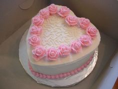 heart and flower cake