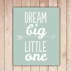 Nursery Printable, Dream Big Little One, Nursery Art, Mint Green Nursery Decor, … - Modern Nursery Art, Girl Nursery, Nursery Decor, Nursery Ideas, Girl Room, Wall Decor, Big Little Gifts, Little Presents, Mint Green Nursery