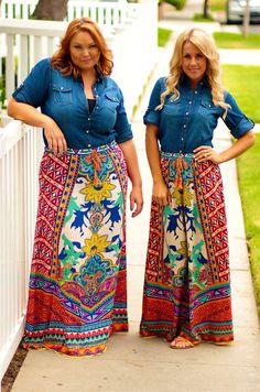 Small through plus size maxi skirt by Flying Tomato  #inspiredbyyou
