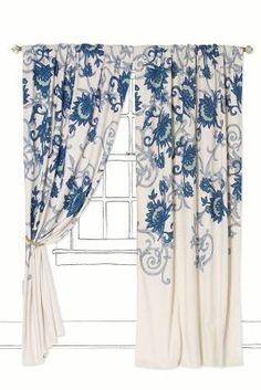 Anthropologie Stitched Mansoa Curtain I've got my eye on these....hehehe