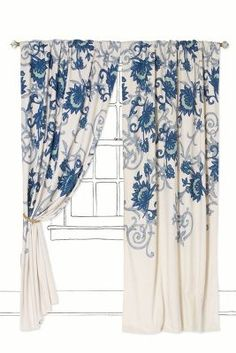 Anthropologie Stitched Mansoa Curtain I've got my eye on these....hehehe