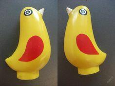 Gumový ptáček - pískací - 9cm  - L. Niklová