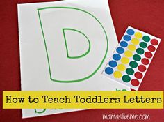 Mamas Like Me: Easy Letter Review Activities - D for Dots - some simple activities to do with toddlers learning letters.