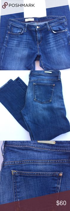 Anthropologie pilcro and the letterpress Hyphen Like new! 99%cotton 1% spandex 17in waist flat lay inseam is 29in rise is 9.5 the size tag drove me nuts but the are a 31:) any questions please ask Anthropologie Jeans