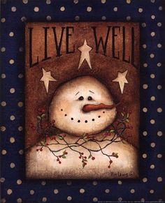 Live Well by Kim Lewis art print