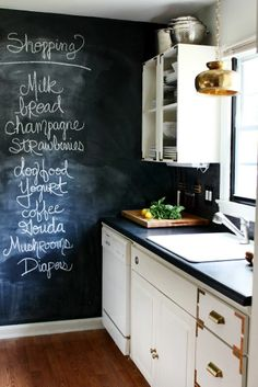This blackboard is a good idea. If you go grocery shopping just snap a pic with your iPhone and go