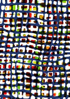 Grid Pattern - Sarah Bagshaw http://decdesignecasa.blogspot.it