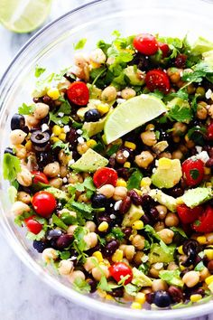 Healthy and Fresh Chickpea Salad | Southwest Chickpea Salad is a delicious and fresh chick pea salad ...