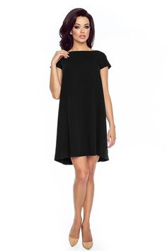 Fashion Dress in Black with Bow at The Back