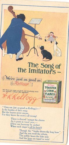 Vintage Kellogg's Tosted Corn Flakes Blotter via Etsy: