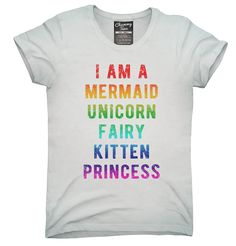 I Am A Mermaid Unicorn Kitten Fairy Princess T-Shirt Hoodie Tank Top - Princess T Shirt - Ideas of Princess T Shirt - I Am A Mermaid Unicorn Kitten Fairy Princess Shirt Hoodies Tanktops