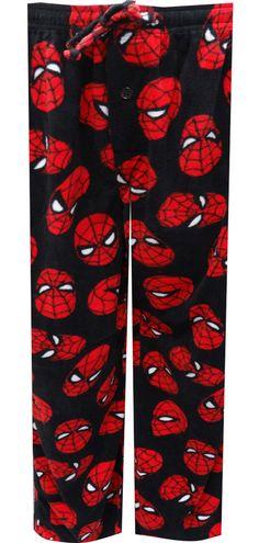 WebUndies.com Marvel Comics Spiderman Fleece Loungepants