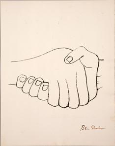 ベン・シャーン 版画集 リルケ『マルテの手記』より《思いがけぬ邂逅》