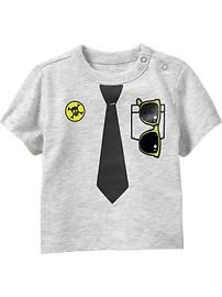 Crew-Neck Graphic Tees for Baby