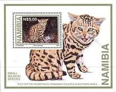 Postage Stamps - Namibia 1997 Wild Cats M.S. UM